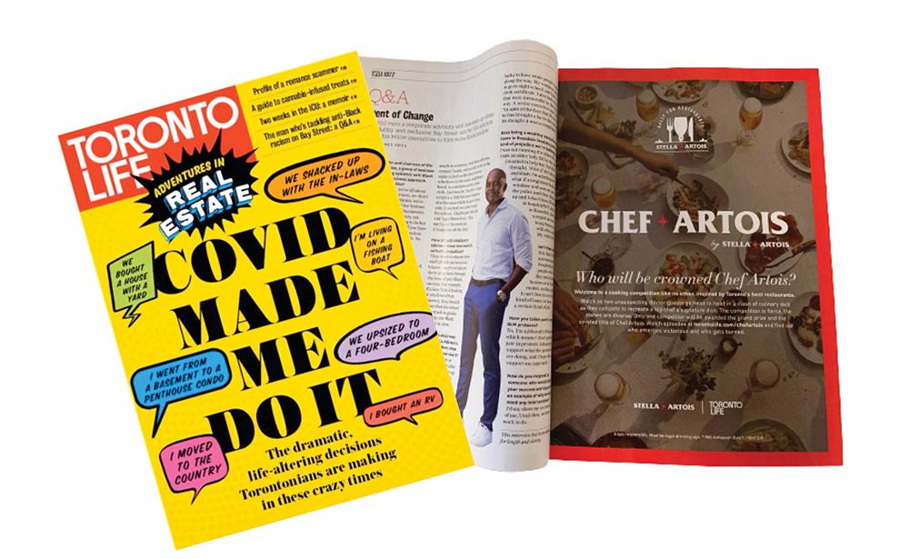 Chef Artois Toronto Life ad