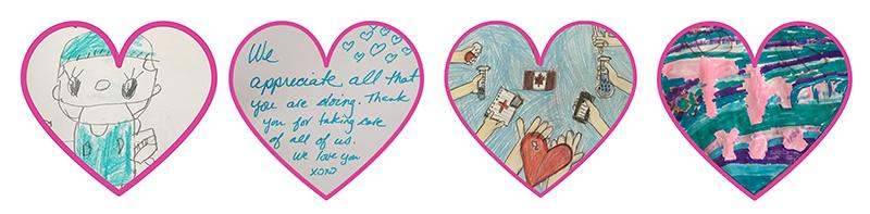 Healthcare Heroes art hearts