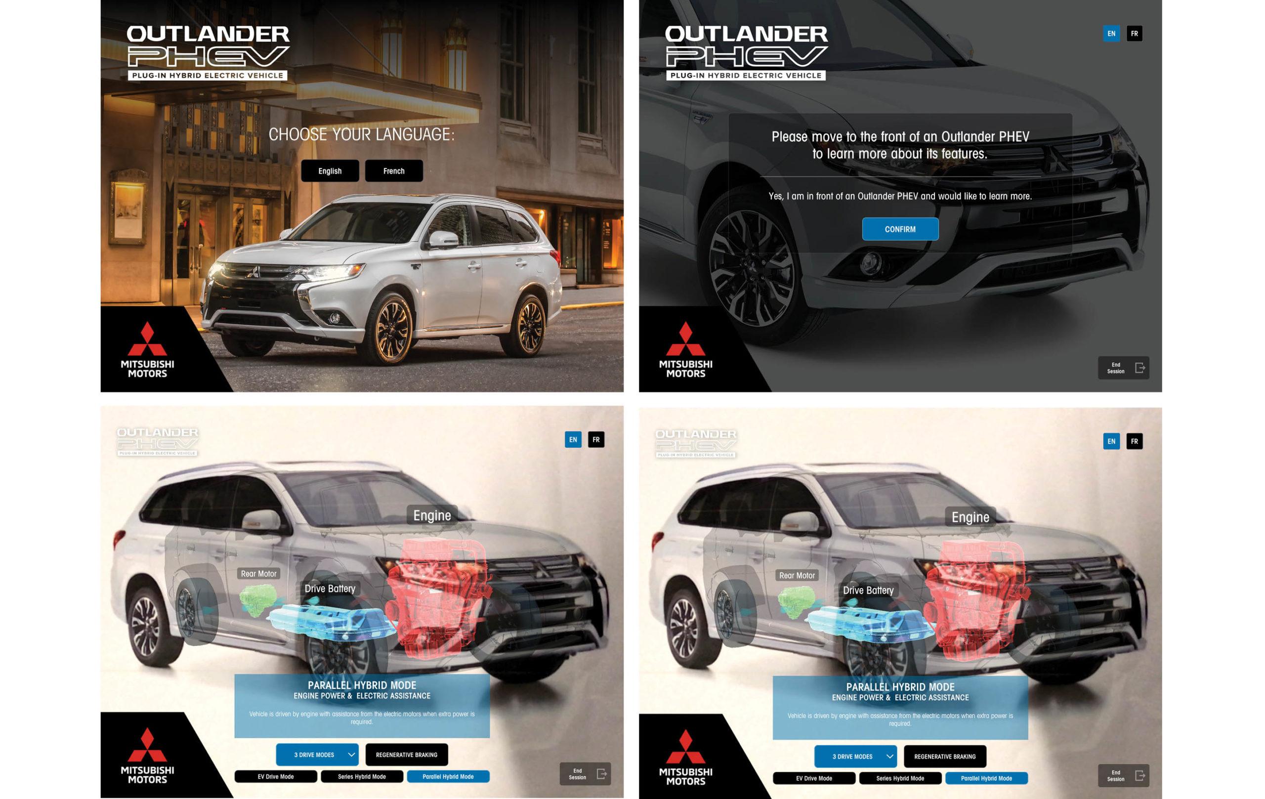 Mitsubishi Outlander augmented reality