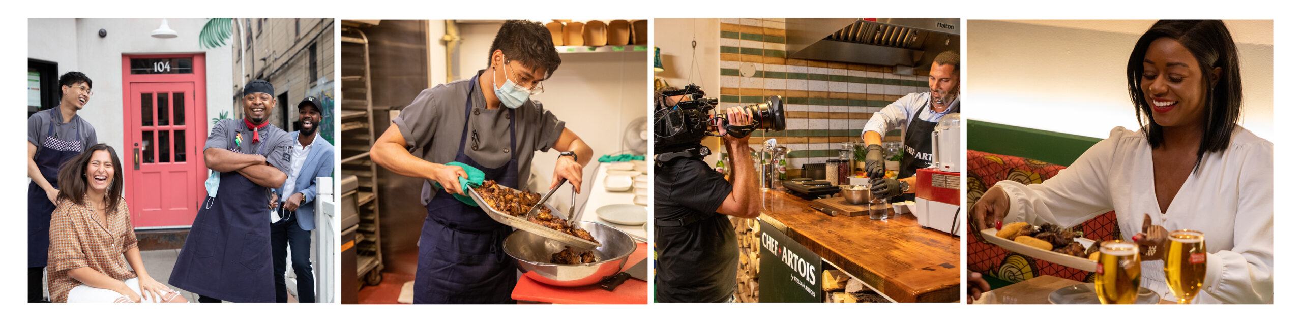 Chef Artois behind the scenes
