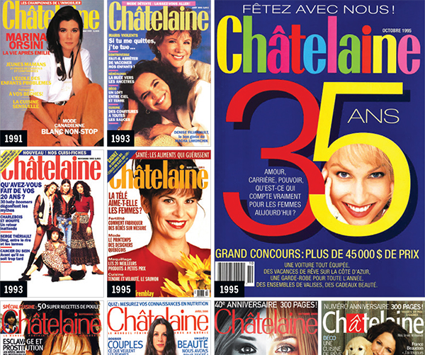Chatelaine 60 years covers
