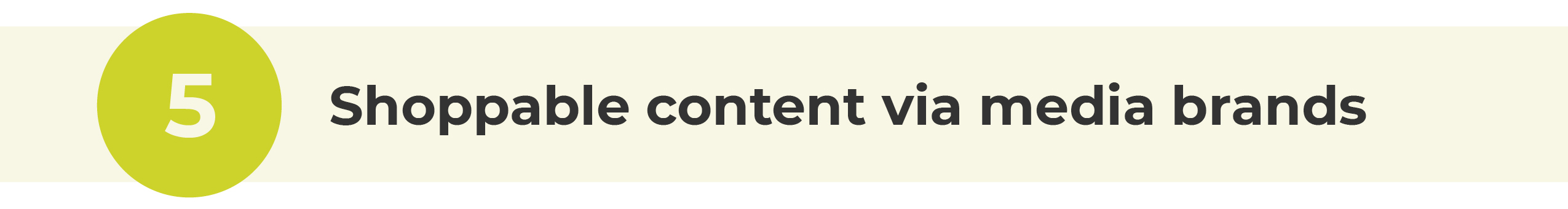 shoppable content