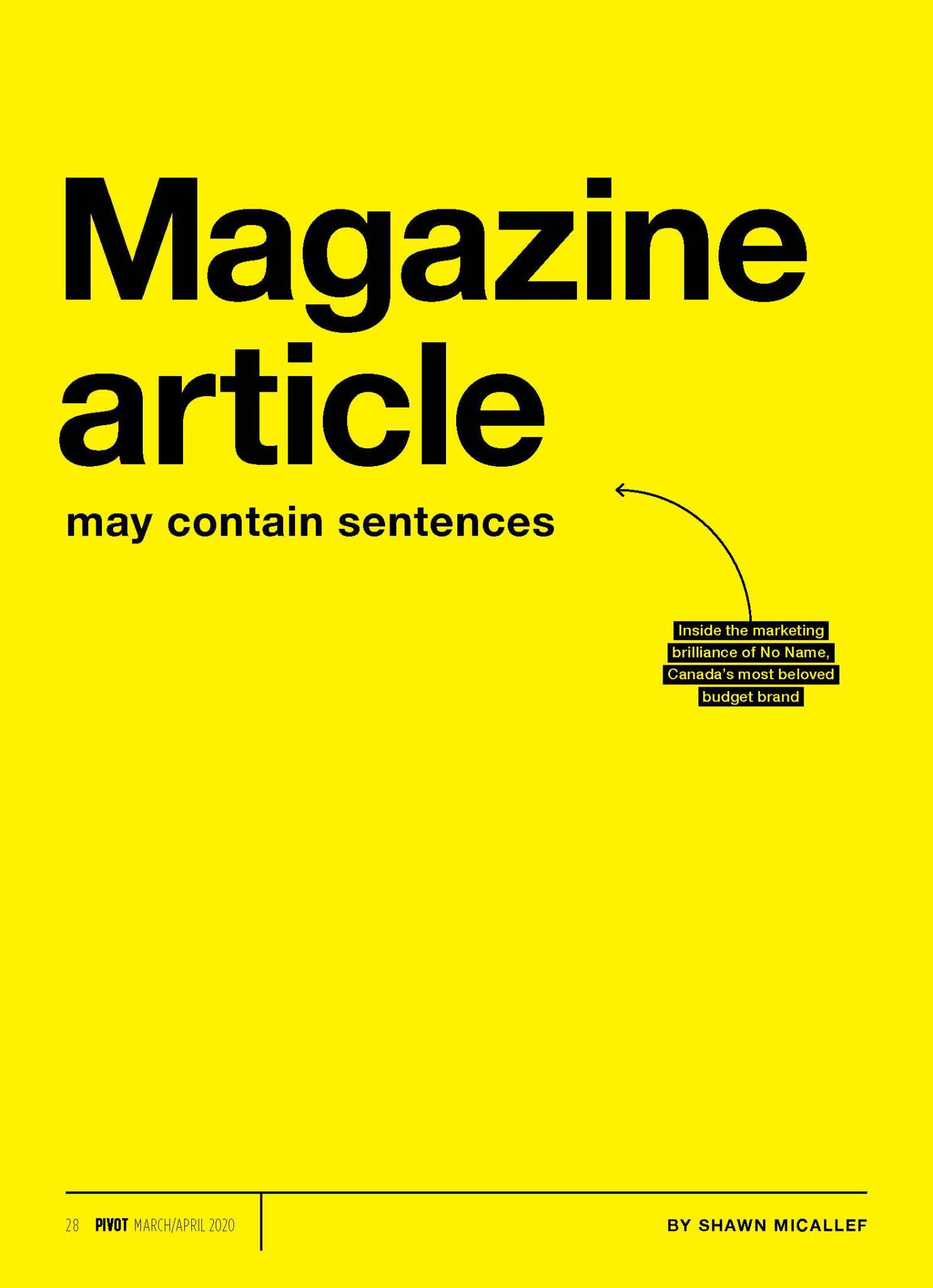 Magazine article may contain sentences